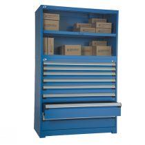 """Cabinet robuste avec cabinet superposé, 8 tiroirs tiroirs (48""""L x 24""""P x 76""""H)"""