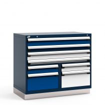 "R Stationary Cabinet (Multi-Drawers, two users), 8 drawers (48""W x 27""D x 42""H)"