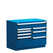 """Stationary Multi-Drawers Toolbox, 8 drawers, Painted Base (48""""W x 27""""D x 38""""H)"""