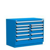 """Stationary Multi-Drawers Toolbox, 11 drawers, Painted Base (48""""W x 27""""D x 38""""H)"""