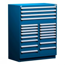"""Stationary Multi-Drawers Toolbox, 20 drawers, Painted Base (48""""W x 27""""D x 62""""H)"""