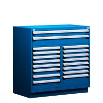 """Stationary Multi-Drawers Toolbox, 18 drawers, Painted Base (60""""W x 27""""D x 48""""H)"""