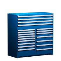 "R Stationary Cabinet (Multi-Drawers), 20 drawers (60""W x 27""D x 60""H)"