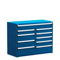 "R Stationary Cabinet (Multi-Drawers), 10 drawers (60""W x 27""D x 46""H)"