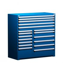 "R Stationary Cabinet (Multi-Drawers), 18 drawers (60""W x 27""D x 60""H)"