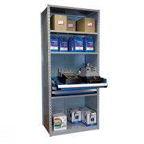"""Shelving with Drawers, 12""""H Drawer Bank (36""""W x 24""""D x 87""""H)"""
