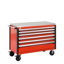 "Cabinet R mobile, 6  tiroirs (48""L x 24""P x 39 1/2""H)"