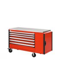"Cabinet R mobile, 6  tiroirs (60""L x 24""P x 39 1/2""H)"