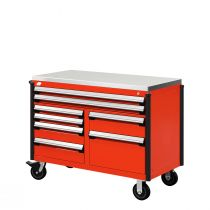 """R Mobile Cabinet, Double Bank, 8  Drawers (48""""W x 24""""D x 39 1/2""""H)"""