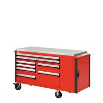 "R Mobile Cabinet, Double Bank, 8  Drawers (60""W x 24""D x 39 1/2""H)"
