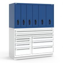 "R2V Vertical Drawer Cabinet, 6 Drawers (60""W X 27""D X 38""H)"