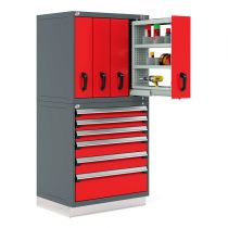 "R2V Vertical Storage System, 10 Drawers (36""W X 27""D X 76""H)"