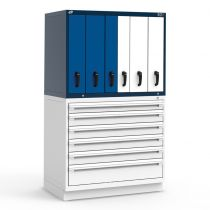 "R2V Vertical Drawer Cabinet (two users), 6 Drawers (48""W X 27""D X 34""H)"