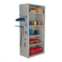 """Closed Shelving,  9 Shelves, perforated posts (36""""W x 24""""D x 99""""H)"""