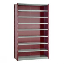 "Closed Shelving,  9 Shelves, perforated posts (48""W x 18""D x 87""H)"