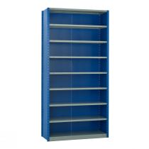 """Closed Shelving,  9 Shelves, perforated posts (48""""W x 18""""D x 99""""H)"""