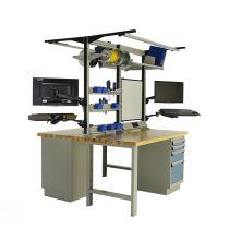 "Workstation, Drawer Storage, Laminated Wood Top (60""W X 30""D X 80""H)"