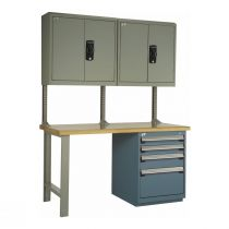 Workstation with Laminated Wood Top