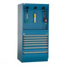 "Reel Cabinet with Storage (36""W X 27""D X 76""H)"