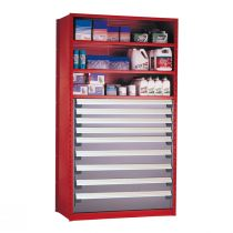"""Shelving with Drawers, 48""""H Drawer Bank (48""""W x 24""""D x 87""""H)"""