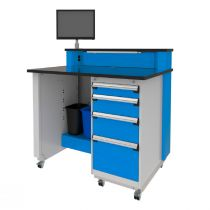"""Mobile Service Advisor Desk with storage cabinet on the right (48""""W)"""