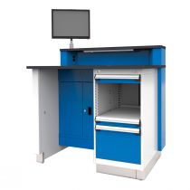 """Stationary Service Advisor Desk with Storage Cabinet on the Right (48""""W)"""