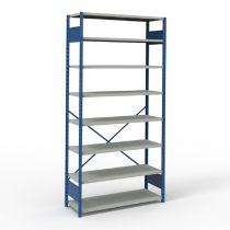 """Open Shelving, 8 Shelves, perforated posts (48""""W x 18""""D x 99""""H)"""