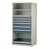 """Shelving with Drawers, 48""""H Drawer Bank (36""""W x 24""""D x 75""""H)"""