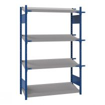 "Open shelving with 4 sloped shelves (FIFO), 48""W X 24""D X 75""H (Starter side-by-side unit)"