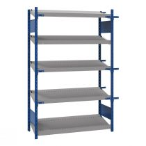 "Open shelving with 5 sloped shelves (FIFO), 48""W X 24""D X 75""H (Starter side-by-side unit)"