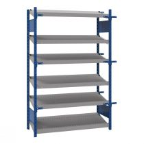 "Open shelving with 6 sloped shelves (FIFO), 48""W X 24""D X 75""H (Starter side-by-side unit)"