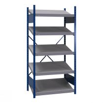 "Open shelving with sloped shelves, 5 shelves (36""W X 24""D X 75""H) (standalone unit / series possible)"