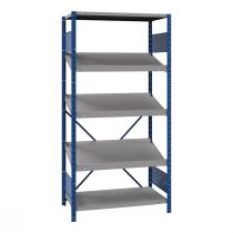 "Open shelving with sloped shelves, 3 shelves (36""W X 24""D X 75""H) (standalone unit / series possible)"