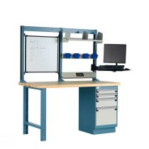 "Workstation, Drawer Storage, Laminated Wood Top (60""W X 30""D X 70""H)"
