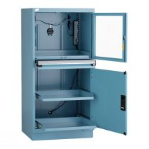 """Cabinet informatique fixe (30""""L x 27""""P x 62""""H)"""