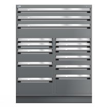 """Stationary Multi-Drawers Toolbox, 14 drawers, Painted Base (48""""W x 27""""D x 62""""H)"""