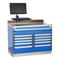 """Heavy-Duty Cabinet with Accessories, Double Bank, 11 drawers (48""""W x 30""""D x 36""""H)"""