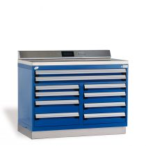 """Heavy-Duty Cabinet with Accessories, Double Bank, 10 drawers (48""""W x 27""""D x 36""""H)"""