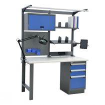 """Open Workbench, Plastic Laminated Top (60""""W X 30""""D X 80""""H)"""