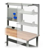 """Covid-19 Protective Screen (side for single workstation) (36""""D X 48""""H)"""