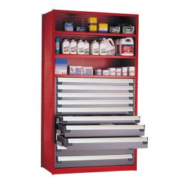 """Shelving with Drawers, 48""""H Drawer Bank (48""""W x 18""""D x 87""""H)"""