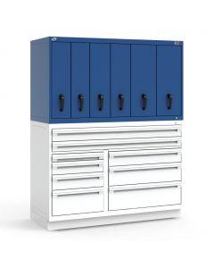 "R2V Vertical Drawer Cabinet, 6 Drawers (60""W X 27""D X 34""H)"