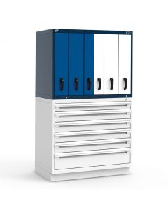 """R2V Vertical Drawer Cabinet (two users), 6 Drawers (48""""W X 27""""D X 34""""H)"""
