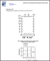 Aide à la compartimentation des tiroirs R