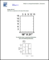 Help to compartmentalize L drawers