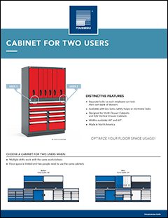Cabinet for Two Users