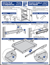 Roll-Out Shelf For Integrated Door