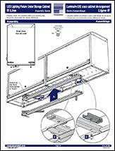 LED Lighting Fixture Under Storage Cabinet