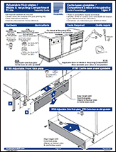 Adjustable Kick-plates / Waste & recycling Compartment