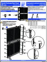 Retrofit Perforated Back Panel